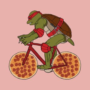 ninja turtle pizza bike