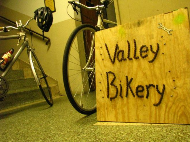 Valley Bikery Sign