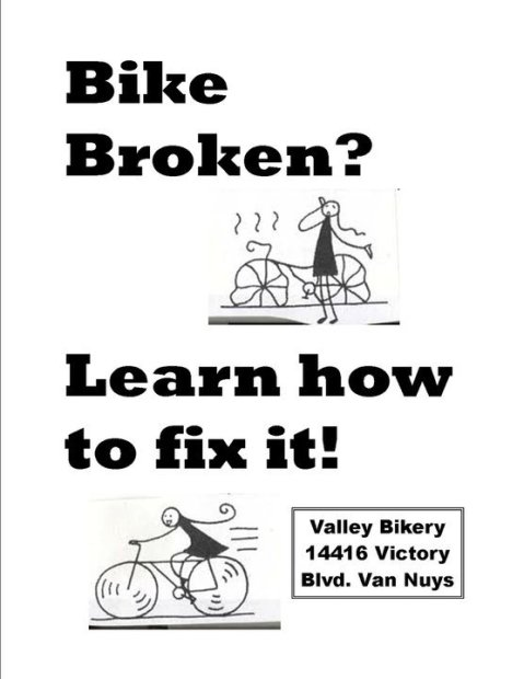 bike broken flyer