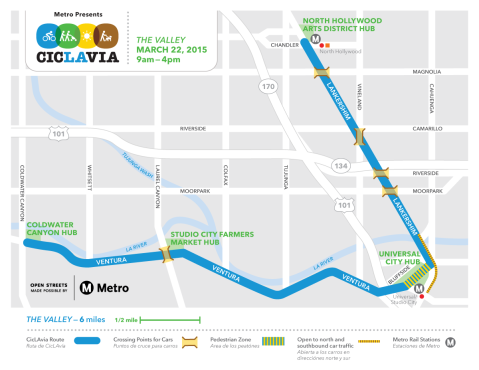 Ciclavalley map